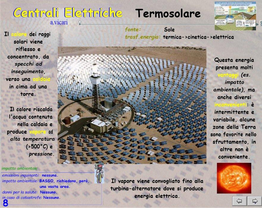 Centrali elettriche lezione - Centrale solare a specchi piani ...